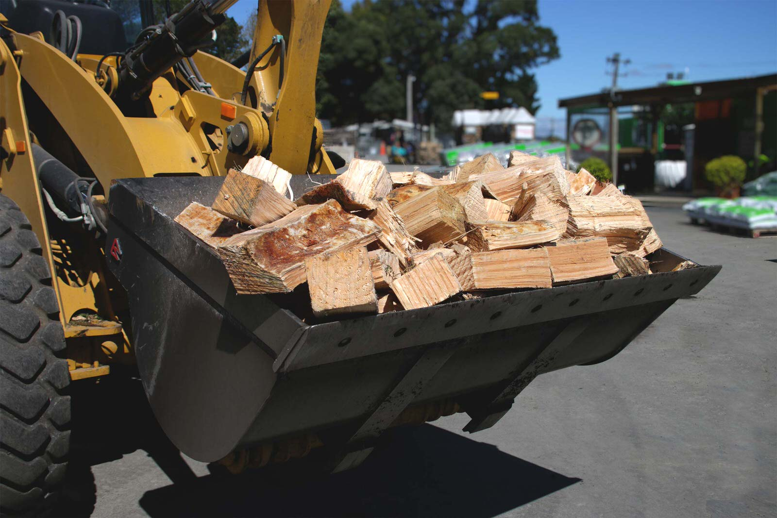 Firewood-by-scoop from Composting New Zealand. Equals 1/2 cubic metre